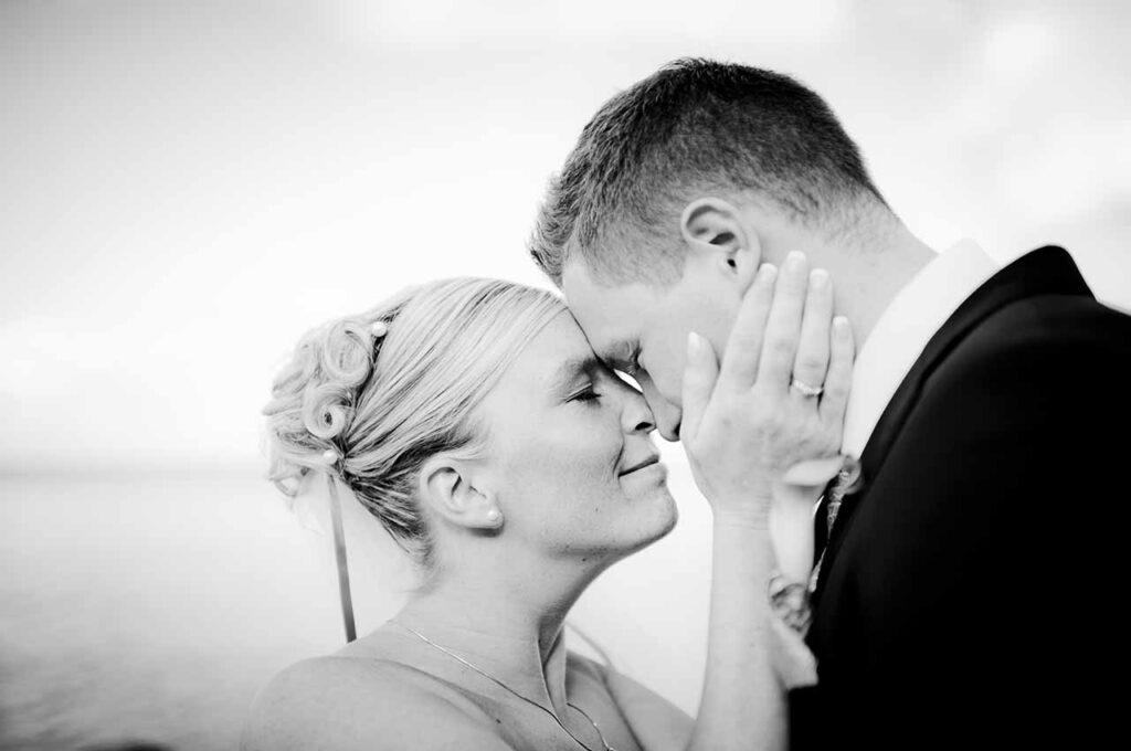 Bryllupsportrætter taget af brudeparret